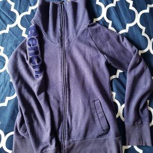 Bench zip sweater. Women's Large Lg Blue